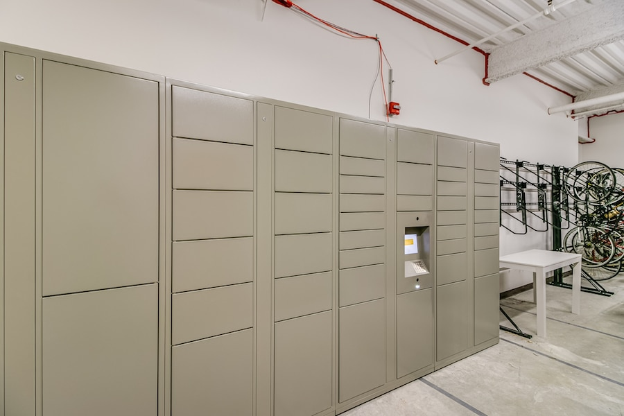 Electronic Package Lockers and Bike Racks